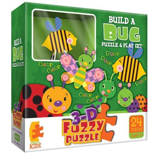 Build A Bug Fuzzy  Jigsaw Puzzle (Fuzzy Puzzle Ceaco)
