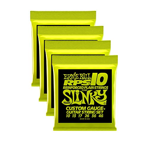 Ernie Ball RPS Regular Slinky Guitar Strings, 10-13-17-26-36-46, Lot/4, P02240