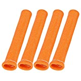 X AUTOHAUX 4 Pcs Orange Spark Plug Wire Boots 1800 Degree Heat Shield Protector Sleeve for Car