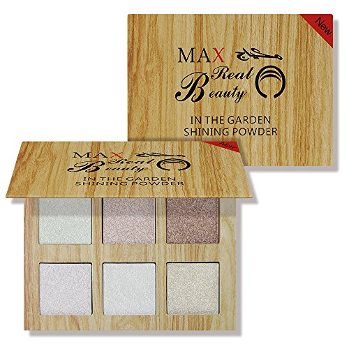 KissBeauty 6 Colors Highlighter Palette Highlighter Powder Brighten Face Contour Bronzer Highlighter Iluminador Maquiagem (01) -  Kiss Beauty