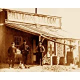 Quality digital print of a vintage photograph - Billiard Parlor & Saloon, Kelly, NM 1883. Sepia Tone 11x14 inches - Luster Finish