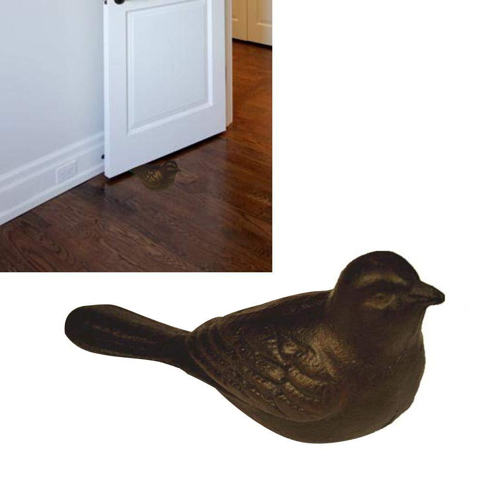 Bulary Arrêt de porte d'oiseau en fonte, bouchon rustique lourd de porte d'oiseau mignon rustique, cadeau de décoration à la maison antirouille bouchon rustique lourd de porte d'oiseau mignon rustique