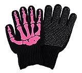 Hot Pink Skeleton Hand Knit Gloves Mechanics Work Biker OSFM