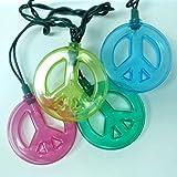 Kurt Adler 10-Light Multicolored Peace Sign Light Set