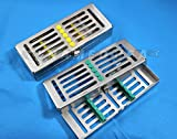 1 GERMAN DENTAL AUTOCLAVE STERILIZATION CASSETTE RACK BOX TRAY FOR 5 INSTRUMENT WITH RACK -A+ QUALITY