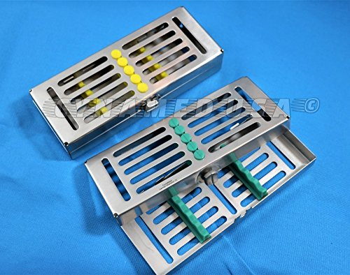 1 GERMAN DENTAL AUTOCLAVE STERILIZATION CASSETTE RACK BOX TRAY FOR 5 INSTRUMENT WITH RACK -A+ QUALITY by CYNAMED