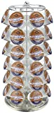 Surpahs ZEKH-200 42 Pod Capacity K-Cup Coffee Pod Storage Carousel Holder Spin Rack, Chrome/Silver