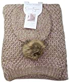 Jessica Simpson Women's Cold Weather Hat and Scarf Gift Set, Rose Water/Gold, JES-0314 SET