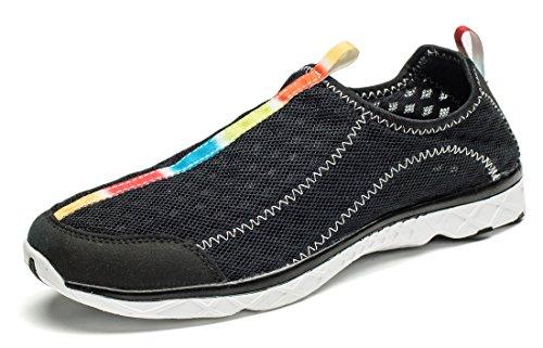 Smapavic Aqua Shoes Per Donna E Uomo Scarpe Da Trekking Leggere Mesh Water Dry Per La Spiaggia Nera