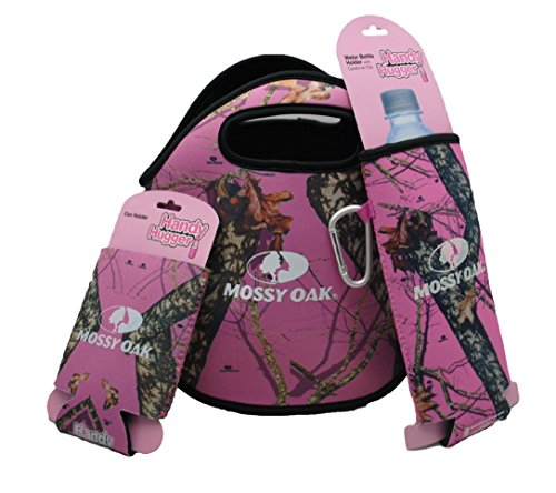 Mossy Oak Pink Camo Lunch Tote With Can Koozie and Bottle Koozie