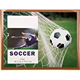Glass Soccer Themed Picture Frame
