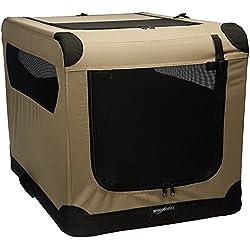 AmazonBasics - Transportín para perros, blando, plegable, 76 cm