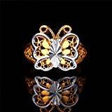 GDSTAR Butterfly Ring latinum 18K Gold Plated Trendy Jewelry Party Wedding With Gift Box 10.0