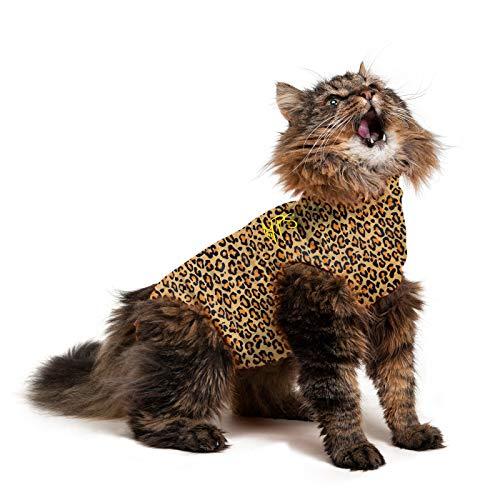 Medical Pet Shirt Katze Leopard - S