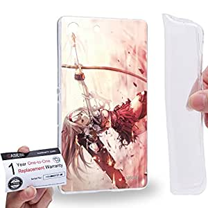 Case88 [Sony Xperia M5] Gel TPU Carcasa/Funda & Tarjeta de garantía - Kantai Collection Kancolle Aircraft Carrier Shokaku 1043