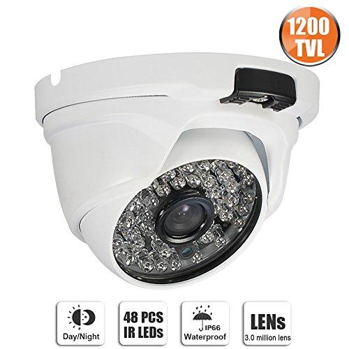 SW SWINWAY 1200TVL Security Camera Day&Night IR Dome Outdoor Home CCTV Camera (Cctv 3.6 Mm Lens)