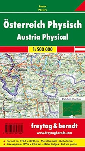 Freytag Berndt Poster, Österreich, Metallbestäbt in Rolle - Maßstab 1:500.000