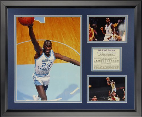 (Legends Never Die Michael Jordan - North Carolina - Dunk Framed Photo Collage, 16