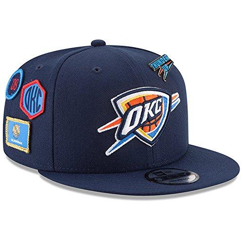 New Era Oklahoma City Thunder 2018 NBA Draft Cap 9FIFTY Snapback Adjustable Hat- Navy ()