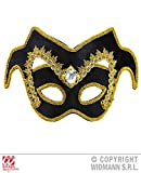 VENETIAN NOBLEMAN EYEMASK w/GEM AND GOLD TRIM Accessory for Renaissance Shakespear Fancy Dress