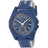 Armani Exchange Men's AXT1002 Blue Silicone Connected Hybrid Watch