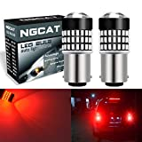NGCAT 2PCS 900Lumens 3014SMD 78-EX Chipsets 1157 BAY15D 2057 2357 7528 LED Bulbs with Lens Projector Brake Turn Signal Tail Backup Reverse Lights,12-24V Red