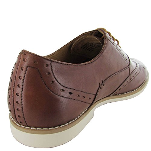 Steve Madden Mens P-Bolts Leather Oxford Shoe Tan K1wLclVr