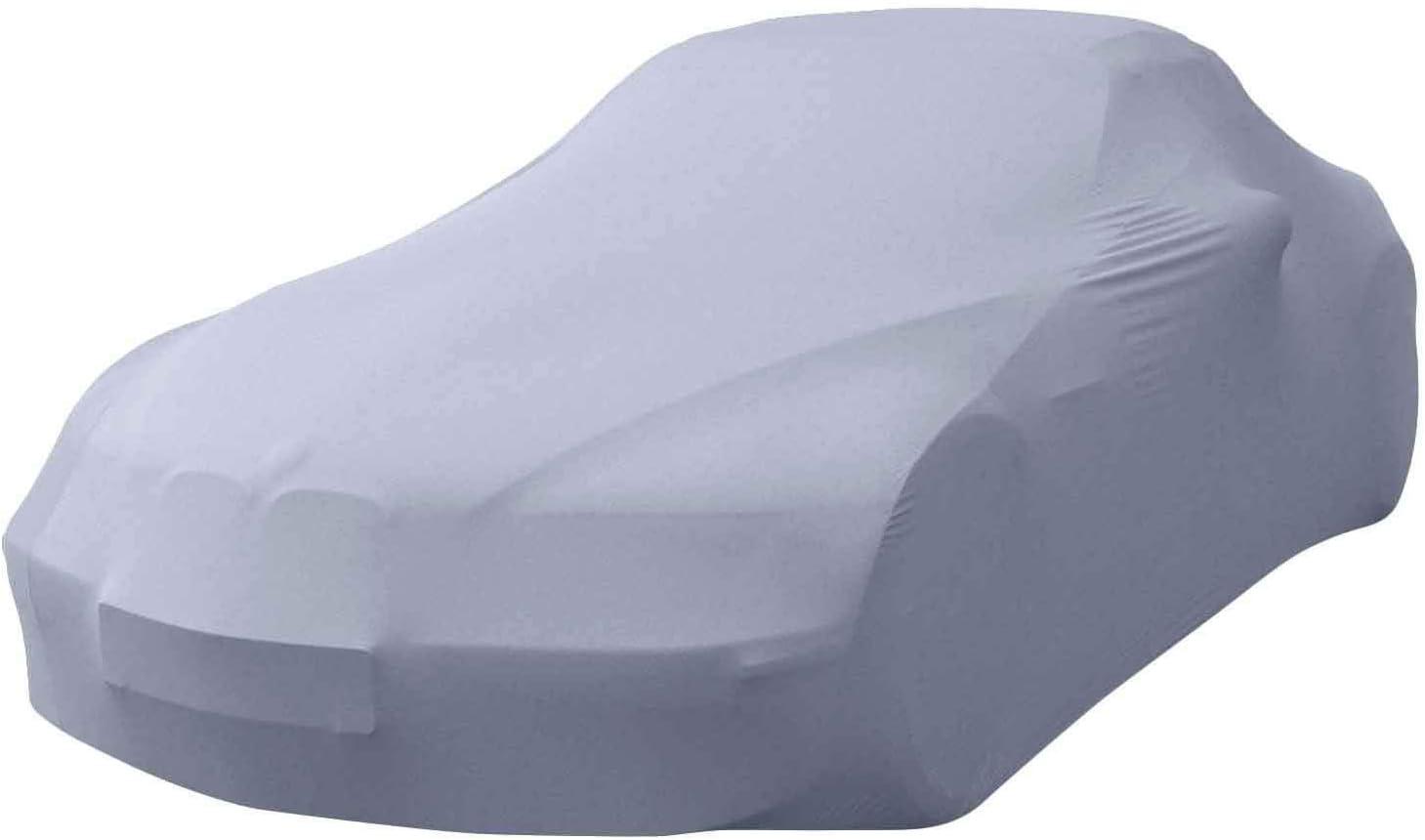 MyCarCover Autoplane passend f/ür Dodge Challenger Coupe Premium Indoor Plane formanpassend atmungsaktiv aus Stoff in Schwarz
