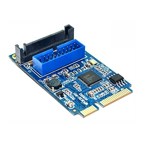 - Adealink Motherboard Mini PCI Express to Dual USB 3.0 19-pin Expansion Card Adapter PCI-E to 2 ports USB 3.0 SATA Adapter