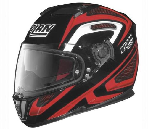 Nolan N-86 Overtaking Non N-Com Helmet , Distinct Name: Black/Red/White, Gender: Mens/Unisex, Helmet Category: Street, Helmet Type: Full-face Helmets, Primary Color: Black, Size: Md N8R5277930332