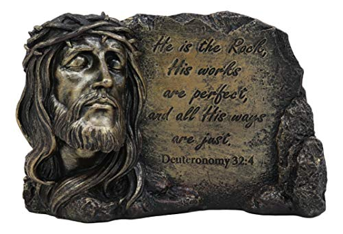(Ebros Inspirational Jesus Christ With A Crown Of Thorns Desktop Plaque Figurine for Religious and Spiritual Home Decor As Decorative Christian Statues with Bible Verse or Catholic Decorations As Gifts)