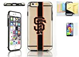 [Iphone 6 / 6s] Forever Collectibles Licensed MLB Clear Tpu Case Momiji® [Screen Guard] Protector, Cleaning Cloth [Iphone 6, 6s] (San Francisco Giants)