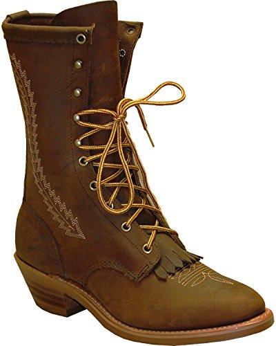 Abilene Mens 12 Western Packer Boot Soft Round Toe Brown 11,5 D