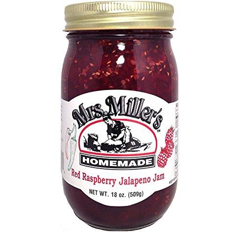 HUGE 18 oz Mrs. Miller's Red Raspberry Jalapeño Jam, Amish and Homemade!