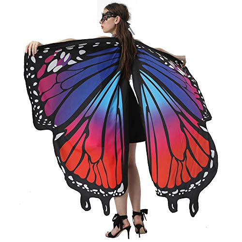 Motiloo Butterfly Wings for Women, Butterfly Shawl Costume Accessory Monarch Butterfly Shawl Cape Halloween Christmas Costume