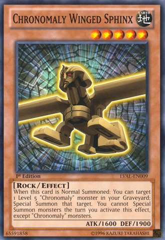 - Yu-Gi-Oh! - Chronomaly Winged Sphinx (LVAL-EN009) - Legacy of the Valiant - 1st Edition - Common