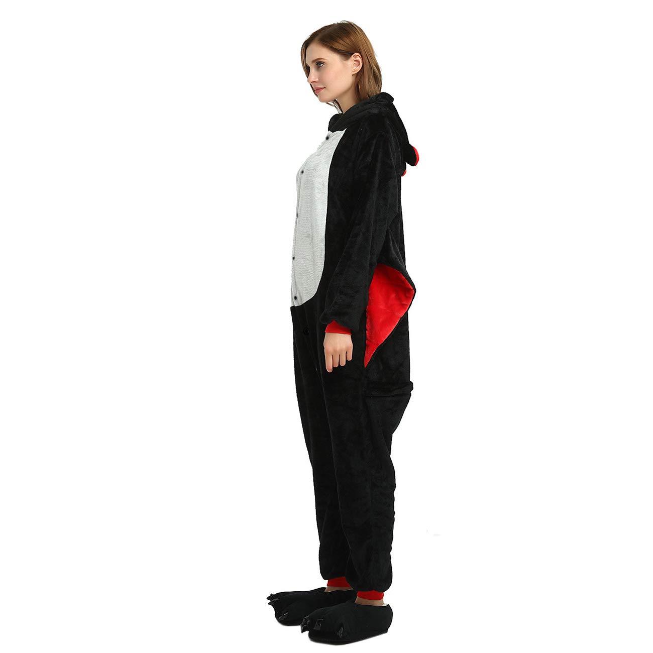 ShiyiUP Pyjamas danimal Dr/ôle Combinaison de Costume D/éguisement pour Halloween Adulte Femmes Hommes Koala sans Chaussures