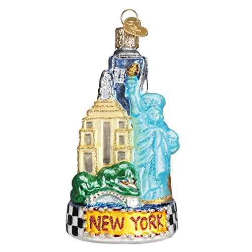 Old World Christmas Glass Blown Ornament with S-Hook and Gift Box, Location Collection (New York City)