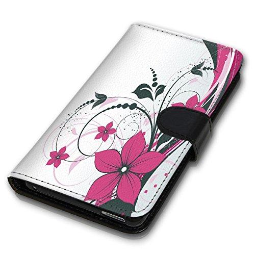 Wallet Book Style Flip Handy Tasche Case Schutz Hülle Schale Motiv Etui für Apple iPhone 4 / 4S - Design Flip MV256