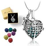 necklace Maromalife Essential Oil Diffuser Necklace Lava Stone Diffuser Necklace with Adjustable 24