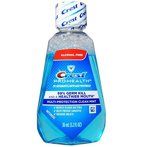 Crest Pro-Health Mouthwash, Alcohol Free, Multi-Protection Clean Mint 1.2 oz (Pack of 48)