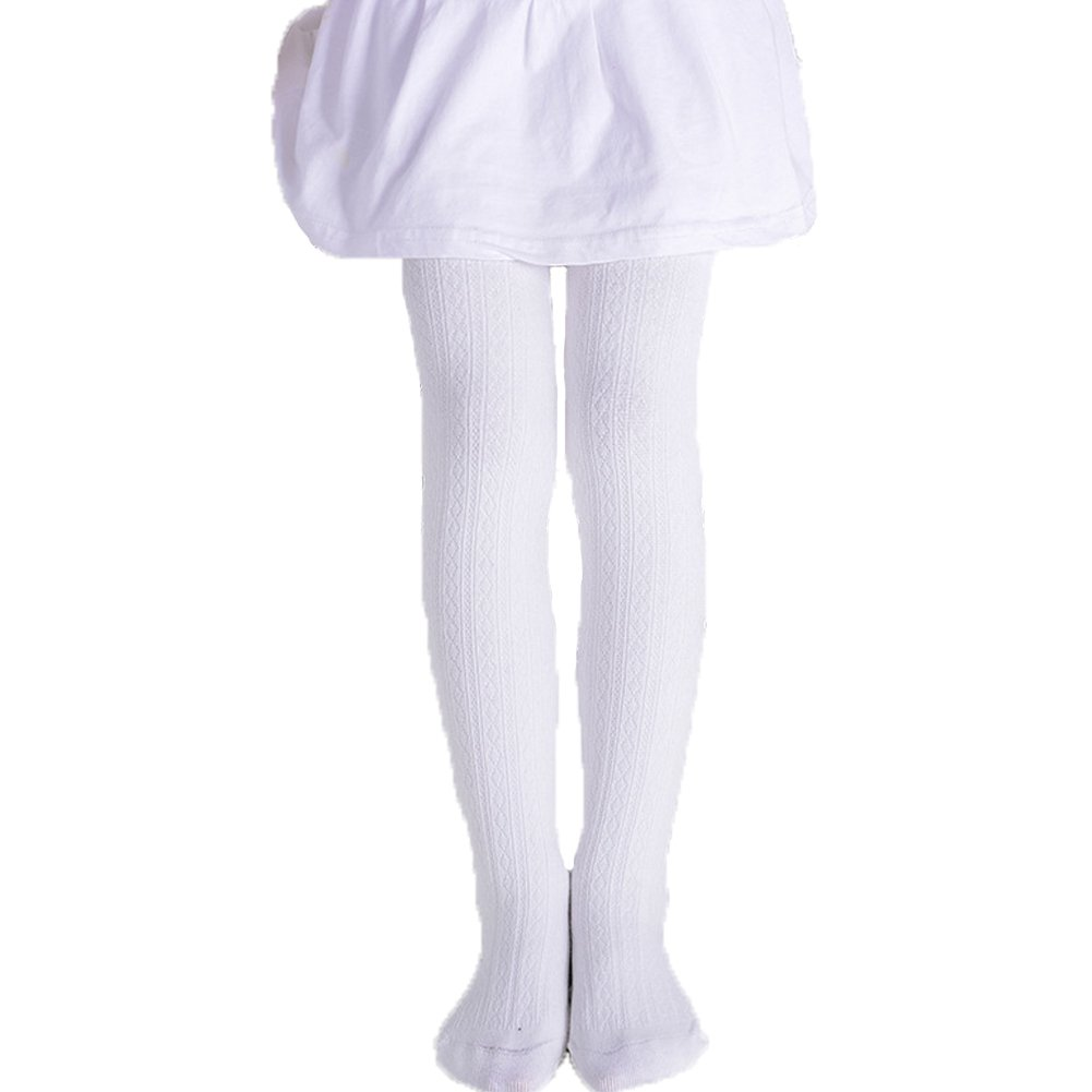 TICK TOCK Baby Girls Plain Cotton Tights