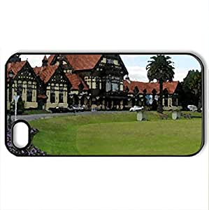 BATH HOUSE ROTORUA.NZ - Case Cover for iPhone 4 and 4s (Watercolor style, Black)