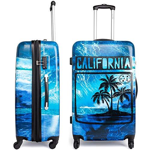 Maui and Sons California Expandable Hardside Spinner Luggage with TSA Lock - Set California Expandable Luggage