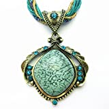 Scene® Retro Bohemia Cat's Eye Necklace Green