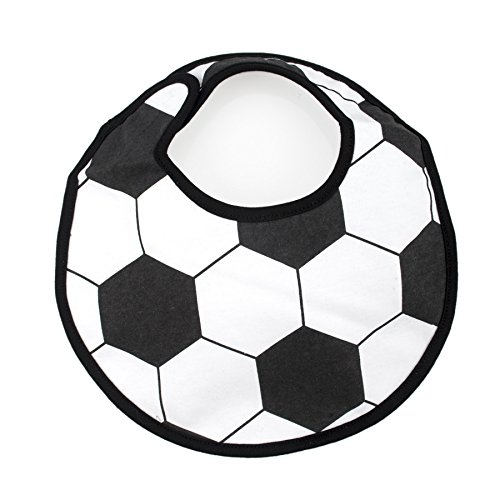 GOGO Baby Boy Sports Ball Bibs, Cute Ball Bib, 1 Pc, Adjustable Closure, 3 Layers Water Resistant Bib, Soccer, Basketball-Soccer