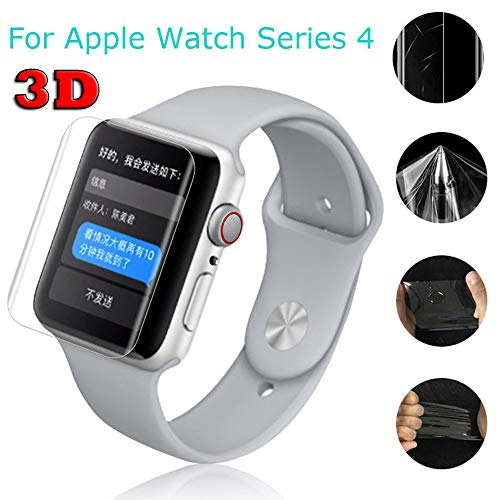 Fiaya Compatible with Apple Watch 40mm 44mm, iWatch Hydrogel Film Transparent Screen Protection Film for Apple Watch Series 4 (40mm, 5PC)