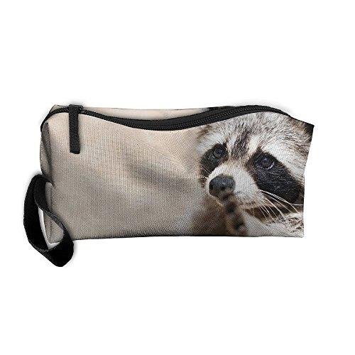 EWSDa Smart Animals Racoon Cosmetic Bag Unisex Multifunctional Receiving (Racoon Makeup)