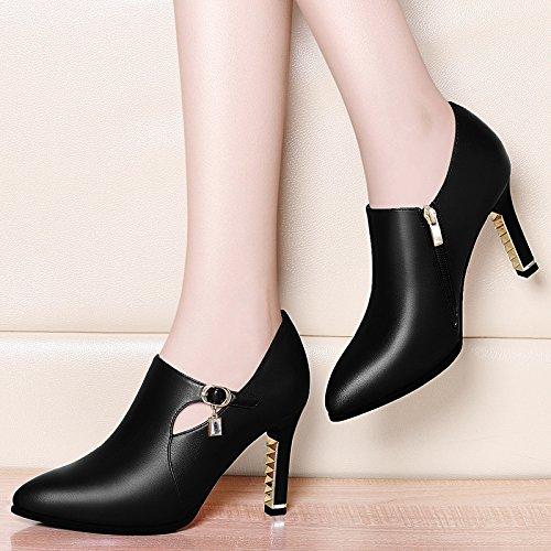 La Moda 9Cm Negro Zapatos Expuestos Perforación Negro De Wild Heeled Perforación 39 AJUNR Water Agua Delgadas Mujer 34 Solo De Zapatos A Mesa Zapatos De Mujeres Agua De High PxYIBF