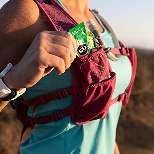 Nathan TrailMix Running Vest/Hydration Pack. 7L (7 Liters) for Men and Women | 2L Bladder Included (2 liters). Zipper, Phone Holder, Water (Sangria/Magenta Purple/Sky Blue, One Size Fits Most) by Nathan (Image #8)